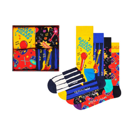 Happy Socks Queen 4-Pack Gift Box